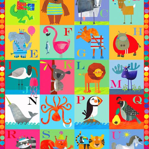 Alphabet Wrapping Paper - I Want That Present