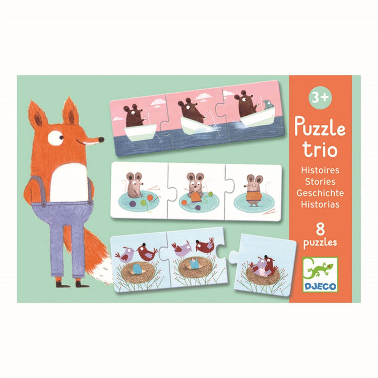 Djeco Trio Puzzle Stories - I Want That Present
