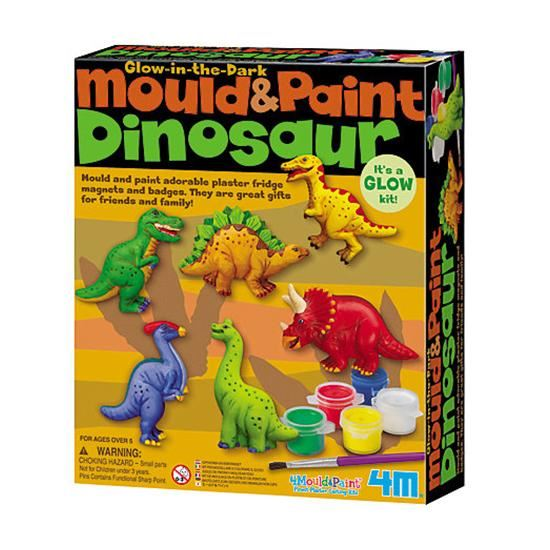 4M Mould & Paint - Glow in the Dark Dinosaurs