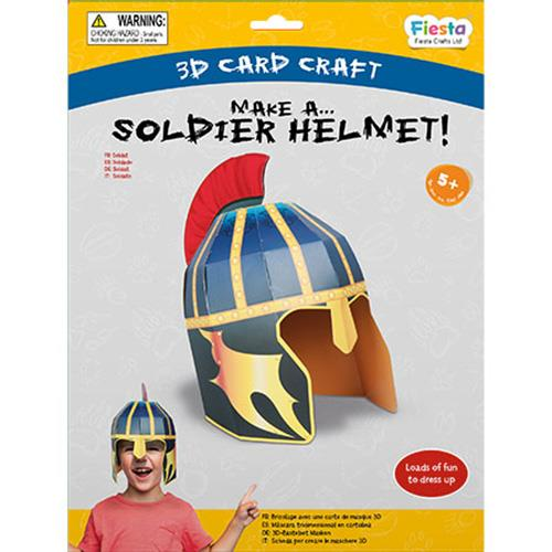Soldier Helmet 3D Mask Card Craft