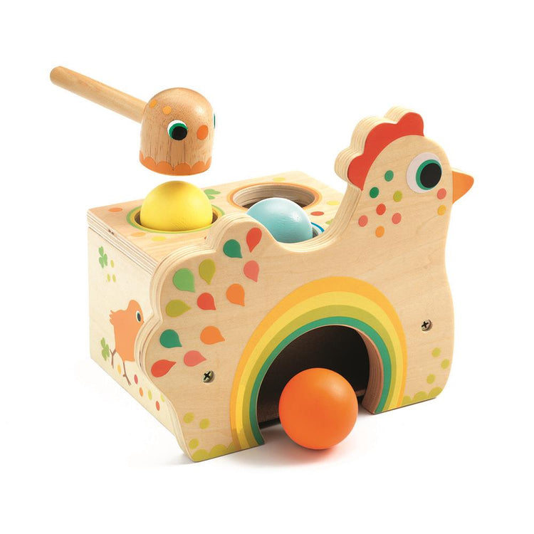 Djeco Wooden Tapatou Chicken & Egg Hammer Game