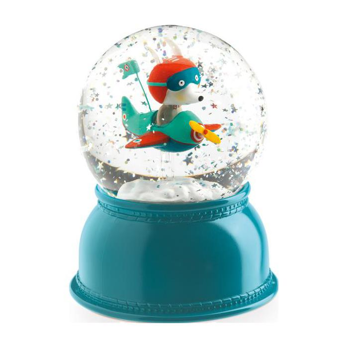 Djeco Snow Globe Night Light - Airplane
