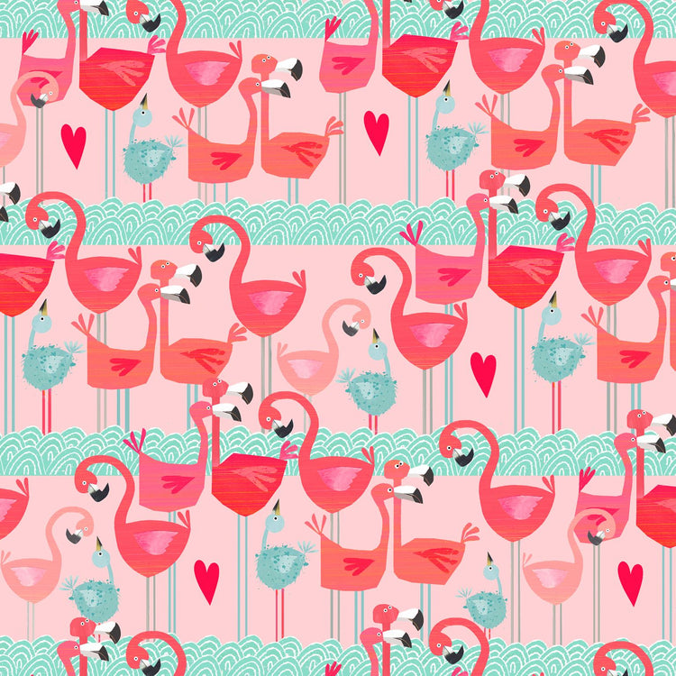 Flamingo Gift Wrap - I Want That Present