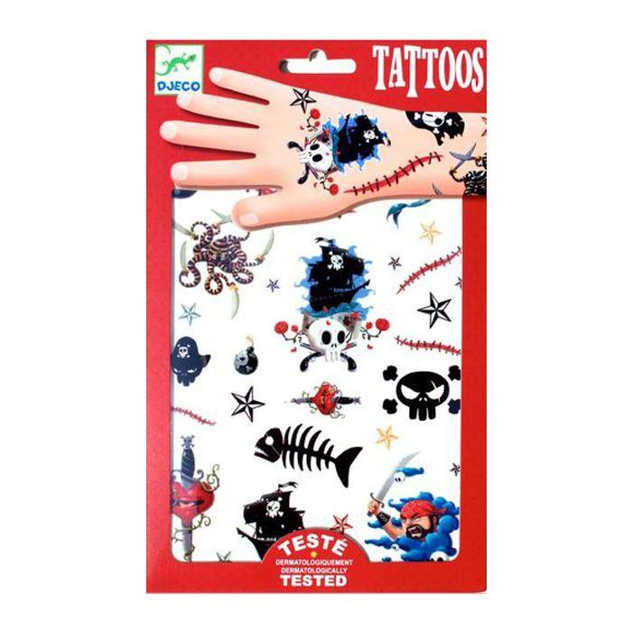Face Stickers & Tattoos - Tattoos - Pirates