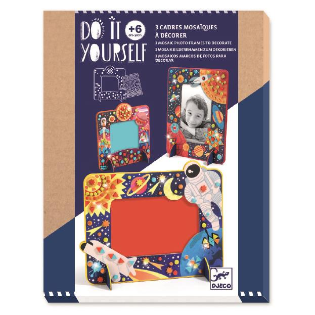 Djeco Do It Yourself In Space Mosaic Frames