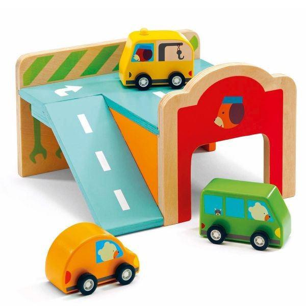 Garages - Djeco Wooden Mini Garage