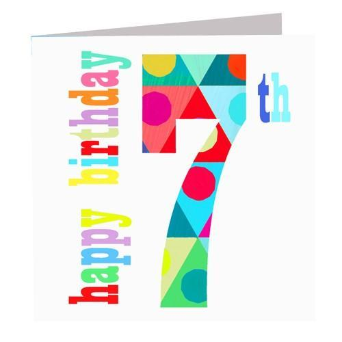 Greeting Cards - Happy 7th Birthday Card