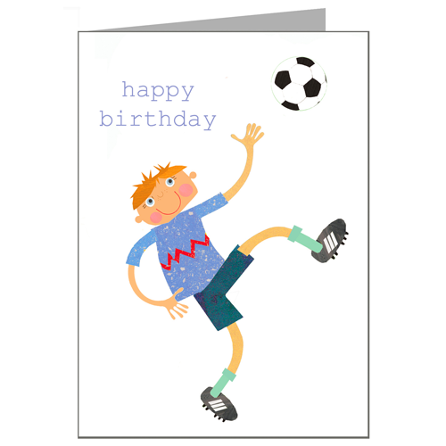 Greeting Cards - Happy Birthday Card - Footballer