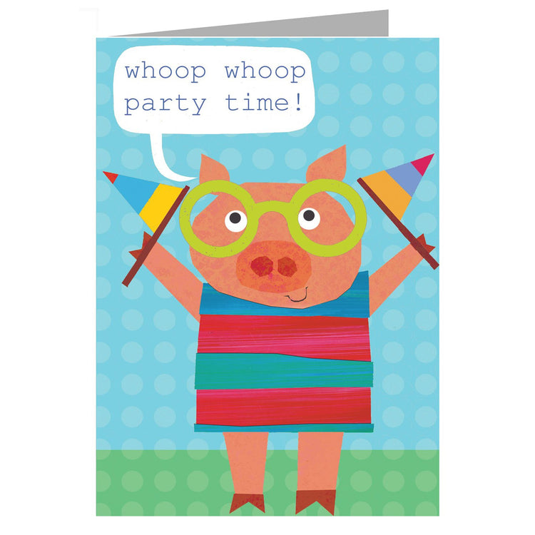 Greeting Cards - Happy Birthday Card - Pig