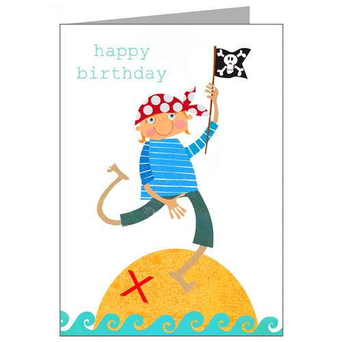 Greeting Cards - Happy Birthday Card - Pirate