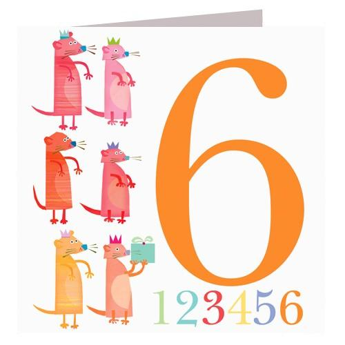 Greeting Cards - Happy Birthday Card - Six - Meercats