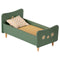 Maileg Mini Wooden Bed - Mint Blue