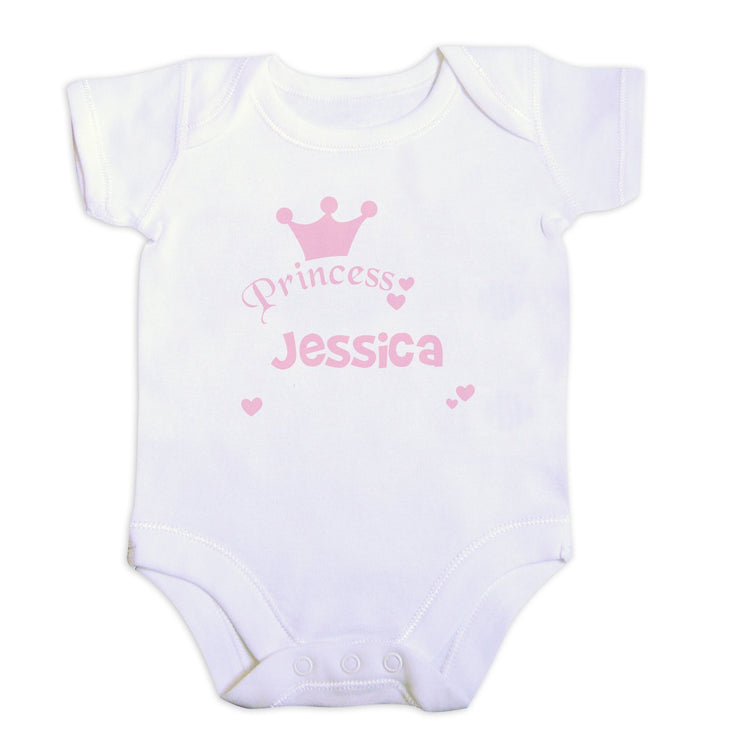 Personalised - Babygrows - Personalised Little Princess Baby Vest (0-3 Months)