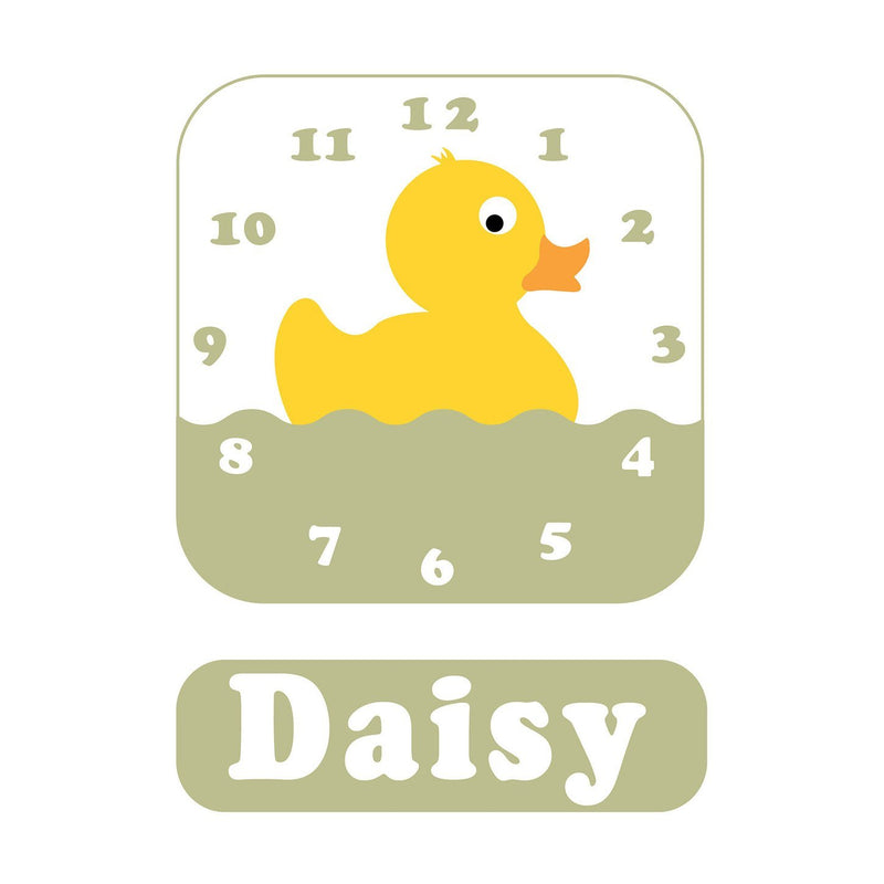 Daisy Duck Personalised Clock