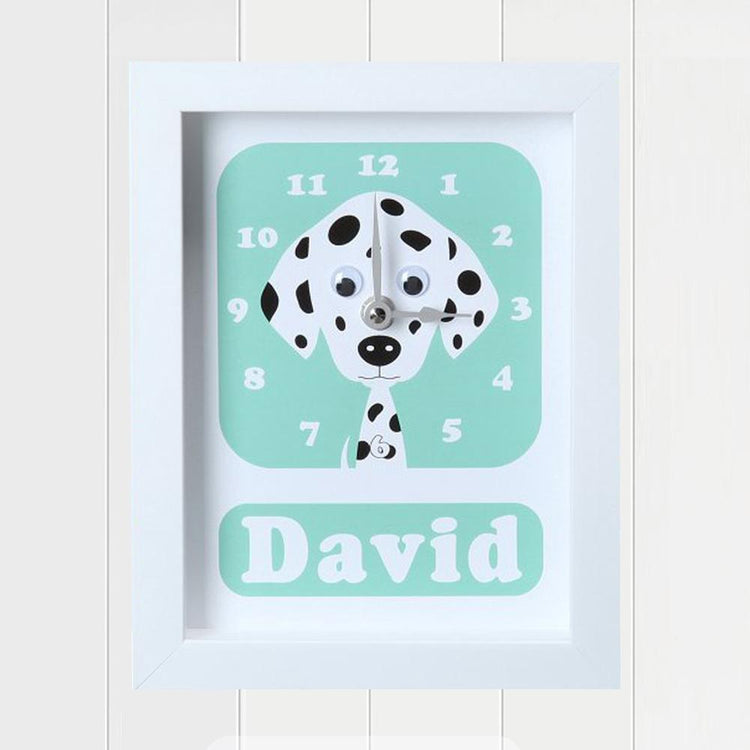 Personalised - Clocks - Danny Dalmatian Personalised Clock