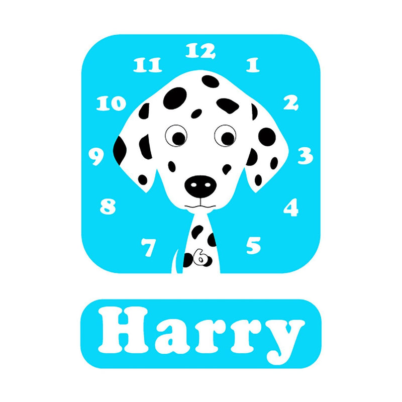 Danny Dalmatian Personalised Clock
