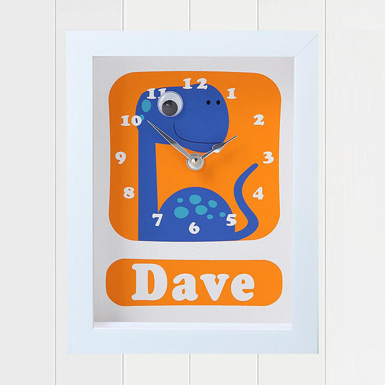 Personalised - Clocks - Dino Dave Personalised Clock
