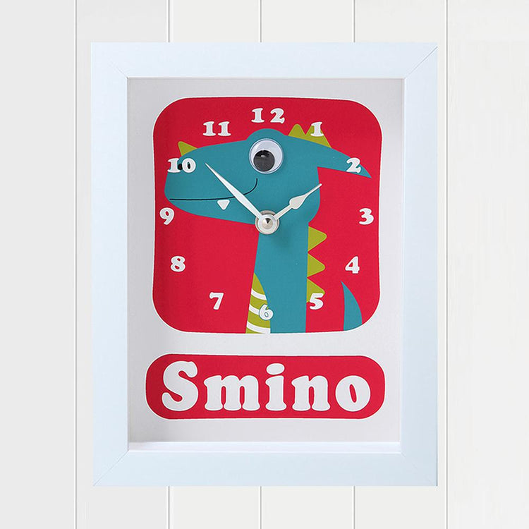 Personalised - Clocks - Dino Smino Personalised Clock