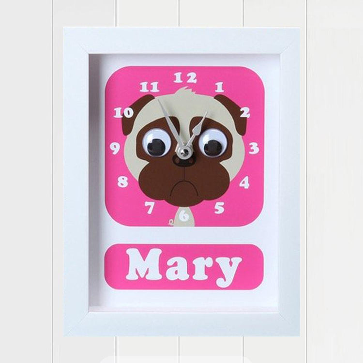 Personalised - Clocks - Doug Pug Personalised Clock