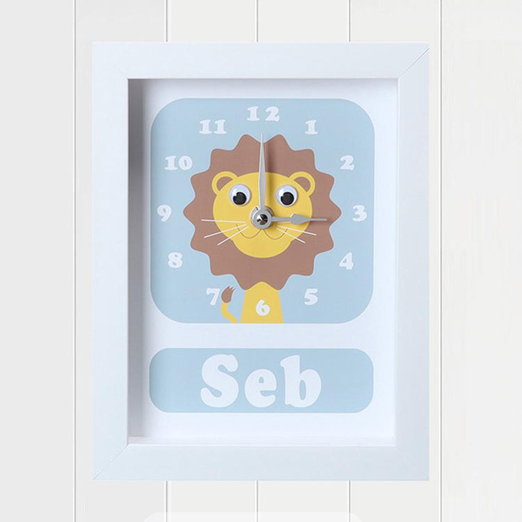 Personalised - Clocks - Livingston Lion Personalised Clock