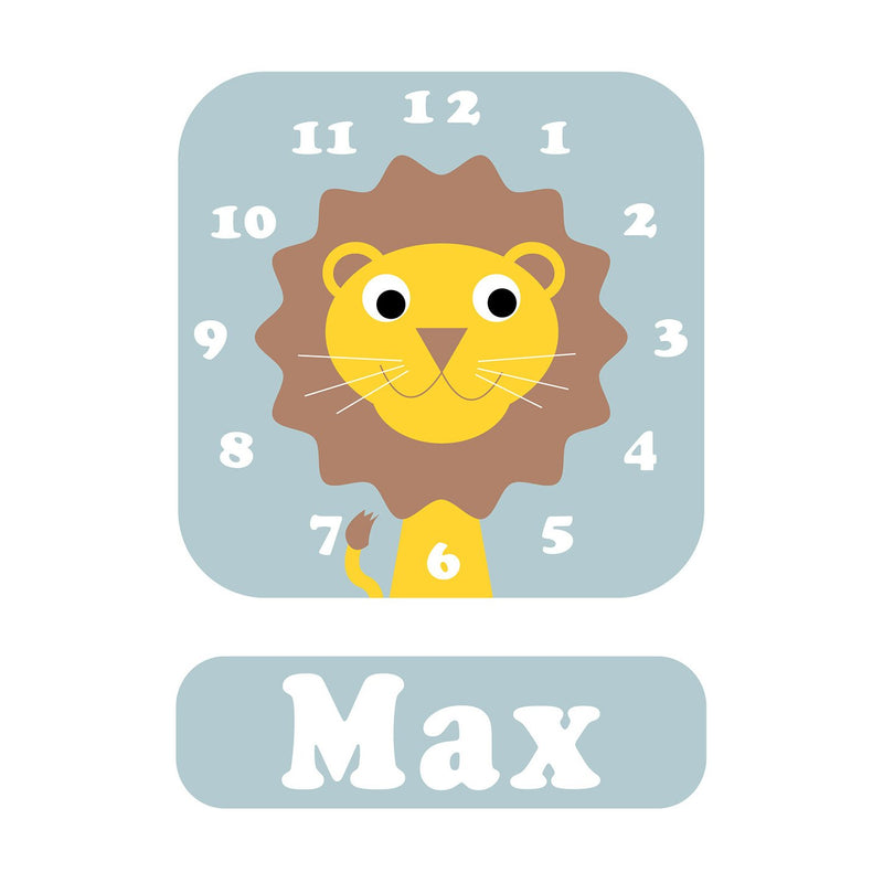 Livingston Lion Personalised Clock