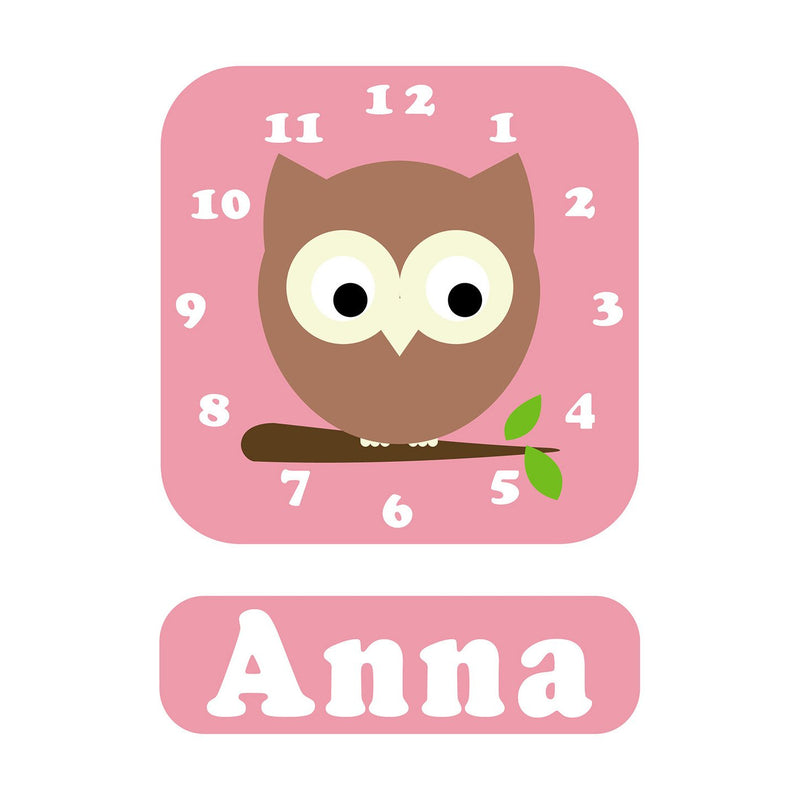 Osbert Owl Personalised Clock