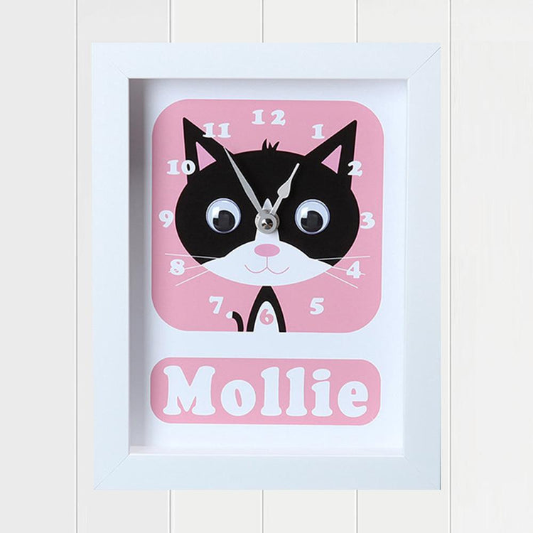 Personalised - Clocks - Phoebe Kitten Personalised Clock