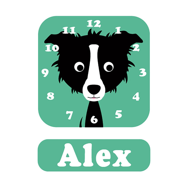 Shaun Sheepdog Personalised Clock