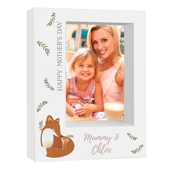 Personalised - For Her - Personalised Mummy And Me Fox Box Photo Frame