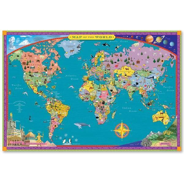 Puzzles - 100 Piece Giant World Map Puzzle