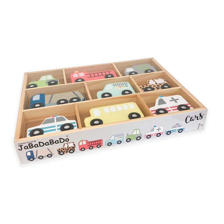 Wooden Cars Shelf Set