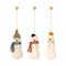 Maileg Snowmen Fabric Tree Decorations X 3