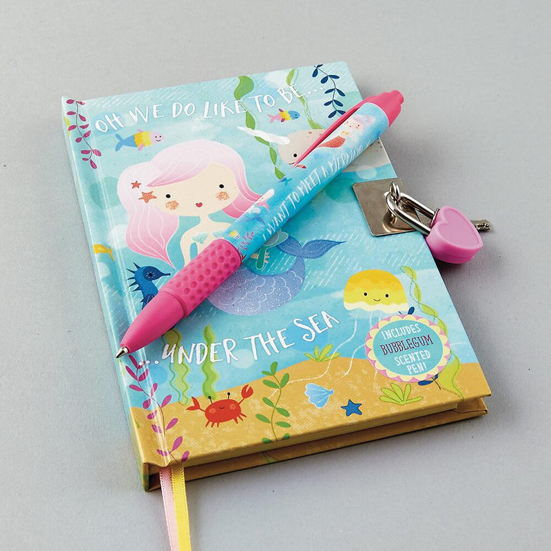 Mermaid Diary with Scented Pen by Floss & Rock