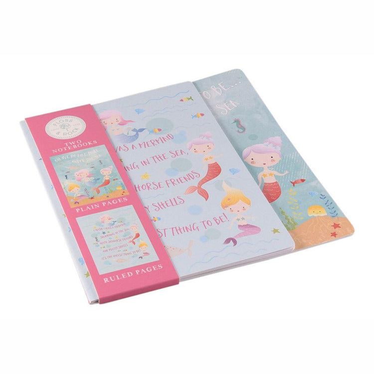 Stationery - Mermaid Notebooks X 2 By Floss & Rock