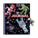 Metalic Foil Robot Lock and key Journal