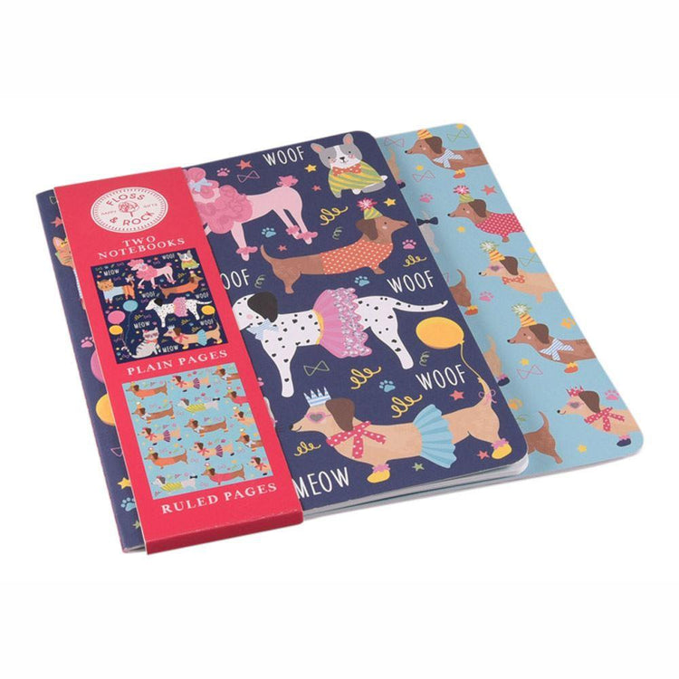 Stationery - Pets Notebooks X 2 By Floss & Rock