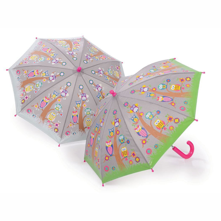 Umbrellas - Owl Colour Changing Umbrella By Floss & Rock