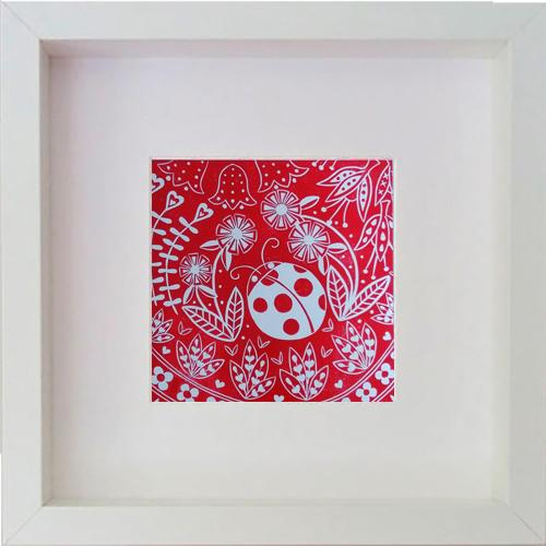 Olivia Ladybird in Red, Framed Print