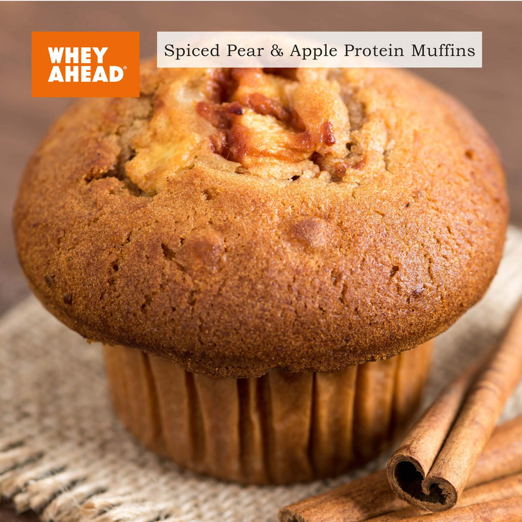Spiced Pear & Apple Protein Muffins