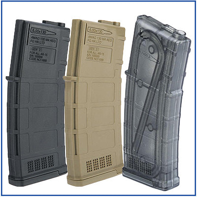 Ares AMAG Mid-Cap Magazine - 130rds/5pcs Box Set