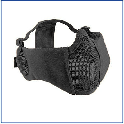 Bravo Carbon Striker Mesh Mask w/ Integrated Ear Protection
