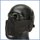 Bravo Carbon V4 Strike Steel Mesh Mask w/ Integrated Ear Protection