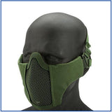 Bravo V3 Strike Steel Metal Face Half Mask