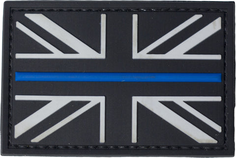 United Kingdom PVC Flag Patch - Thin Blue Line