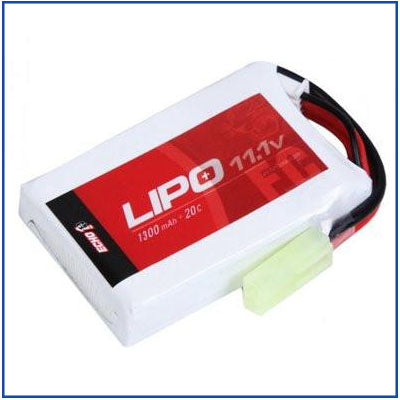 Echo1 11.1v 1300mAh 20C LiPo Battery - LIPO 4
