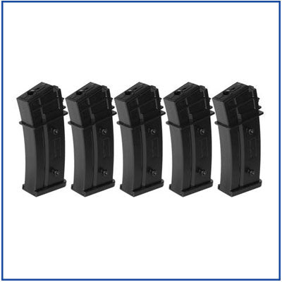 H&K G36 Mid Capacity Magazine - 140rd - Box Set of 5