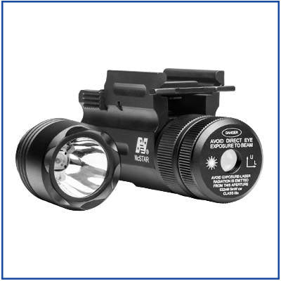 NcStar - 35L Flashlight and Green Laser Combo - QR Mount