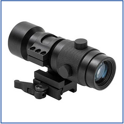 NcStar - 3X Magnifier with Flip-to-Side - QR Mount