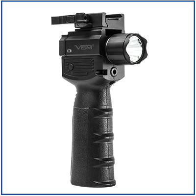 NcStar - Vertical Grip w/Strobe Flashlight & Green Laser