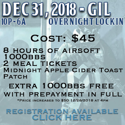 Gilbert NYE Lockin Registration